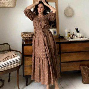 CHRISTY DAWN Bianca Dress M Magenta Blooming Vine